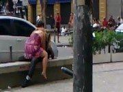 Sexo na praça de são paulo com público filmando