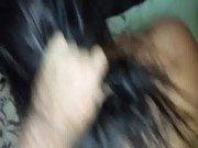 Puxando cabelo da cavala amadora com bombada brutal