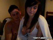Garota na webcam com seu homem safadinho fogoso