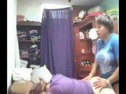Lésbicas safadas no trabalho fazendo sexo gostoso