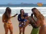 Panico na tv com as gostosas na praia