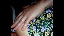 Gordinha de vestido florido dando gostoso no amador