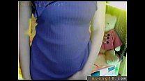 Novinha faz exibição gostosa na webcam