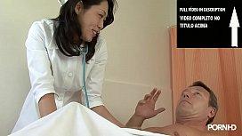 Asiática vê pacientes com pau duro e te fodem
